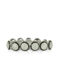 Azhar Two Tone Cubic Zirconia And Sterling Silver Bracelet