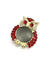 A Z Collection Red Owl Pin Gold