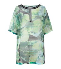 Escada Semi Sheer Kaftan Top Female Green