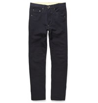 Rag And Bone James Tapered Textured Cotton Trousers One