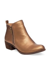 Lucky Brand Basel Zip Up Booties Copper