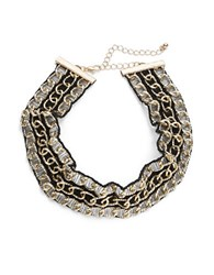 Design Lab Lord And Taylor Tiered Chain Link Choker Necklace Multi