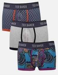 Ted Baker Paisely Three Pack Trunks Purple
