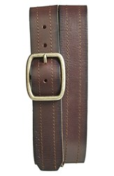 Men's A. Kurtz 'Chance' Leather Belt Dark Brown