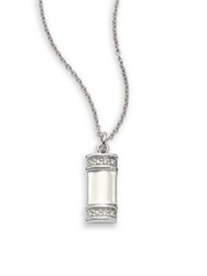 Kwiat Diamond And 18K White Gold Small Tag Pendant Necklace