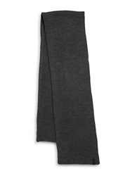 Calvin Klein Asymmetric Moss Stitch Solid Knit Scarf Charcoal