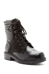 Santana Canada Franco Weatherproof Leather Faux Fur Lined Boot Black