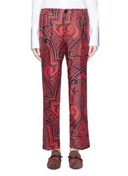 F.R.S For Restless Sleepers 'Zeus' Paisley Print Silk Pyjama Pants Red