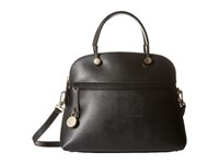 Furla Piper Medium Dome Onyx 1 Satchel Handbags Black