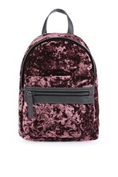 Topshop Mini Velvet Backpack Light Pink
