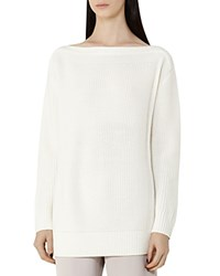 Reiss Amy Boat Neck Sweater Off White