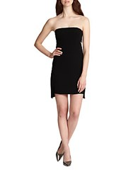 Robert Rodriguez Strapless Crepe Cutout Dress Black