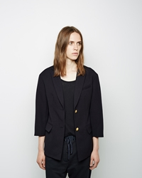 3.1 Phillip Lim Cropped Sleeve Double Button Blazer Midnight