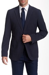 Zanetti Navy Mini Gingham Soft Sport Coat Black