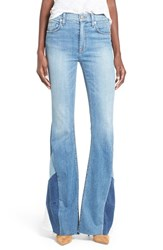 Women's Hudson Jeans 'Laurel' Patchwork Flare Jeans Radio Silence