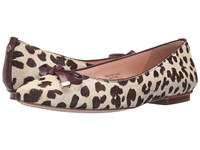Kate Spade Emma Blush Brown Leopard Haircalf Print Red Chestnut Nappa Women's Shoes Animal Print
