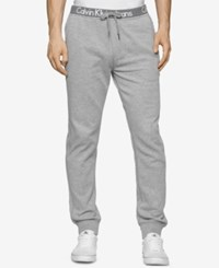 Calvin Klein Men's Logo Waistband Sweatpants Urban Grey Heather