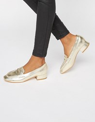 Truffle Collection Low Heel Soft Loafer Gold