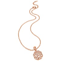 Folli Follie Santorini Flower Short Pendant Rose Gold