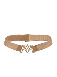 Jade Jagger Diamond And Yellow Gold Chevron Sheild Bracelet