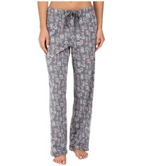 Jockey Novelty Print Pants Plants Vases Women's Pajama Gray