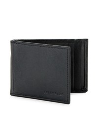 Perry Ellis Rifd Blocking Leather Portfolio Wallet Casual Black