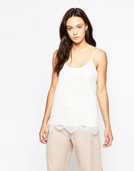Minimum Finny Lace Cami Top Broken White