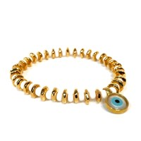Eye Of The Sea Evil Eye Charm Bracelet White