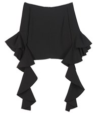 Ellery Delores Crepe Off The Shoulder Blouse Black