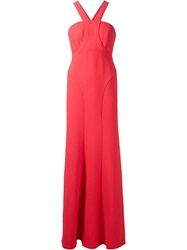 Calvin Klein Collection 'Buros' Evening Dress Pink And Purple