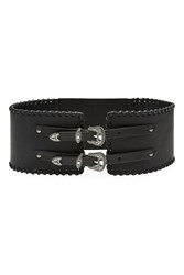 The Kooples Leather Belt Black