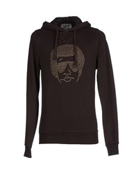Joe Rivetto Topwear Sweatshirts Men Dark Brown