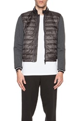 Moncler Cotton Cardigan Jacket In Gray