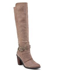 Fergie Dune Suede Knee High Boots Taupe