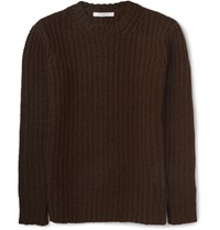 Givenchy Zip Detailed Camel Sweater Brown
