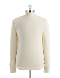 7 For All Mankind Mini Waffle Pullover Beige