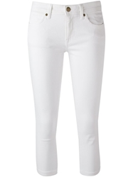 Burberry Brit Cropped Skinny Trousers White