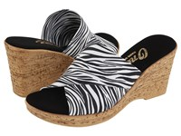 Onex Christina White Zebra Women's Wedge Shoes Black