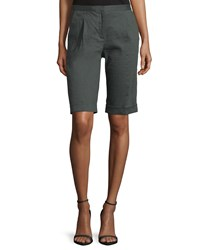 Elie Tahari City Slim Fit Bermuda Shorts Women's Camoflauge