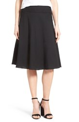 Women's Nic Zoe 'Summer Fling' Linen Blend Skirt Black Onyx