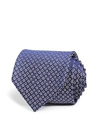 Bloomingdale's The Men's Store At Mini Flower Neat Classic Tie Navy White