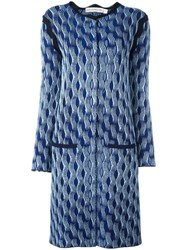 Mary Katrantzou 'Powder' Knitted Coat Blue