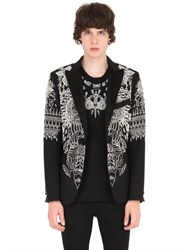 John Richmond Bead Embellished Stretch Wool Jacket