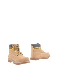 Cat Ankle Boots Beige