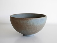 Footed Blue Bowl