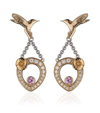 Theo Fennell Pink Sapphire Hummingbird Tryst Earrings Female