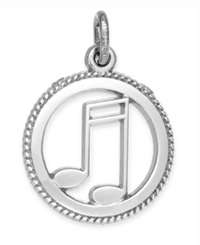 Rembrandt Charms Sterling Silver Music Charm