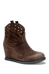 Muk Luks Talia Wedge Bootie Brown