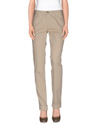 Carlo Chionna Trousers Casual Trousers Women Beige