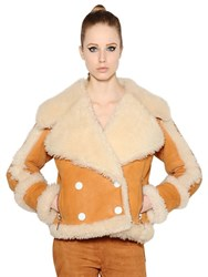 Drome Double Breasted Shearling Jacket